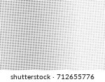 black and white dotted halftone ... | Shutterstock .eps vector #712655776