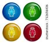 raincoat multi color gradient...