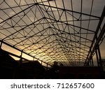 pictures of silhouette steel... | Shutterstock . vector #712657600