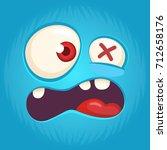 Cool Cartoon Monster Face...