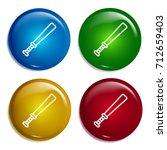 baseball bat multi color...