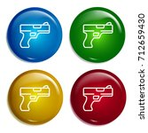 gun multi color gradient glossy ...