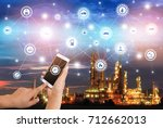 industry 4.0 connect hand...   Shutterstock . vector #712662013
