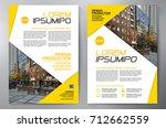 business brochure. flyer design.... | Shutterstock .eps vector #712662559