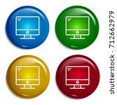 computer multi color gradient...