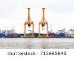 industrial business loading... | Shutterstock . vector #712663843