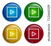 play multi color gradient... | Shutterstock .eps vector #712666339