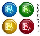 checklist multi color gradient...