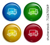 fast delivery multi color... | Shutterstock .eps vector #712670569