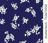 flower illustration pattern | Shutterstock .eps vector #712671010