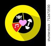healthy logo vector.heart... | Shutterstock .eps vector #712673530