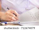 soft focus.high school or...   Shutterstock . vector #712674079