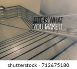 inspirational quote on blur...   Shutterstock . vector #712675180