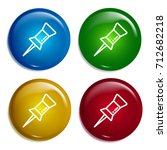push pin multi color gradient...
