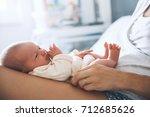 newborn baby sleep first days... | Shutterstock . vector #712685626