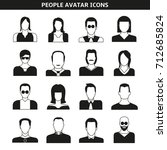 people avatar  character icons | Shutterstock .eps vector #712685824