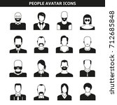 people avatar  character icons | Shutterstock .eps vector #712685848