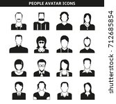 people avatar  character icons | Shutterstock .eps vector #712685854