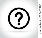 illustration of question mark... | Shutterstock .eps vector #712687480