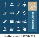 education icon set vector | Shutterstock .eps vector #712687954