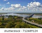 amur bridge. khabarovsk  far...