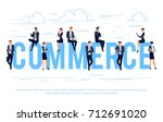 commerce. business concept in a ... | Shutterstock .eps vector #712691020
