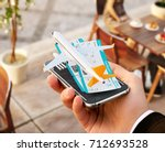 smartphone application for... | Shutterstock . vector #712693528