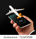 smartphone application for... | Shutterstock . vector #712693588