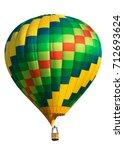 hot air balloon isolated on... | Shutterstock . vector #712693624
