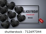 black friday sale poster with...   Shutterstock .eps vector #712697344