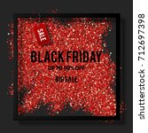 black friday sale poster with...   Shutterstock .eps vector #712697398