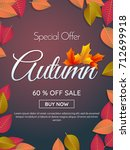 autumn sale template banner... | Shutterstock .eps vector #712699918