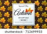 autumn sale template banner... | Shutterstock .eps vector #712699933
