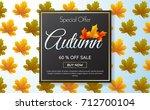 autumn sale template banner... | Shutterstock .eps vector #712700104