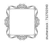 decorative retro frames .vector ... | Shutterstock .eps vector #712702540