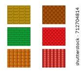 color roof tiles set... | Shutterstock .eps vector #712704814
