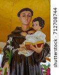 Small photo of Saint Anthony holding baby Jesus statue