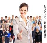 human resources. businesswoman... | Shutterstock . vector #71270989