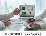 fund manager analyze business... | Shutterstock . vector #712711528