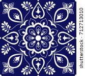 tile ornaments pattern vector... | Shutterstock .eps vector #712713010