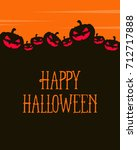 halloween greeting card orange... | Shutterstock .eps vector #712717888