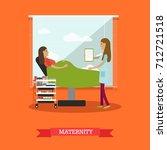 illustration of doctor female... | Shutterstock . vector #712721518
