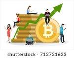 bitcoin concept vector... | Shutterstock .eps vector #712721623