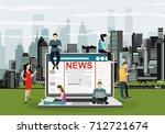 online breaking news concept...