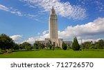 louisiana state capitol... | Shutterstock . vector #712726570