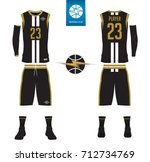 basketball uniform  shorts ... | Shutterstock .eps vector #712734769