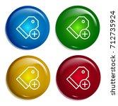 price tag multi color gradient... | Shutterstock .eps vector #712735924