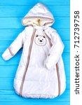 infant baby winter bodysuit....   Shutterstock . vector #712739758