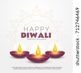 beautiful happy diwali greeting ... | Shutterstock .eps vector #712746469