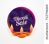 diwali festival sale poster... | Shutterstock .eps vector #712746664